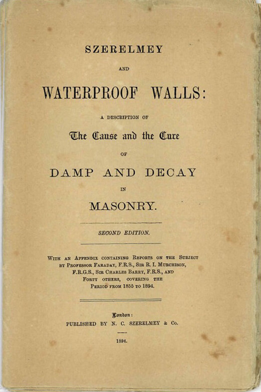 Szerelmey Article - Cause and Cure of Damp and Decay
